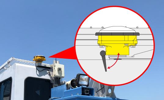 アンテナの装着はレバーロック式を採用しているので取付、取外しが簡単です。